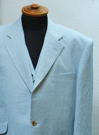 リネンベスト付きスーツ